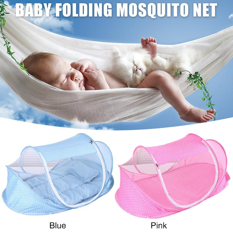 0 3 Years Baby Bed Tent Crib Mattress Portable Foldable Mosquito Net Newborn Bedroom Travel Bed Baby Bed Wave Point Foldable