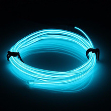 2 Meters 12V LED Ice Blue Lights Flexible Wire Neon Cold Light Strip Car Interior Decor Decoration Strips Lamps deebow flexible neck 24 led 2 mode blue