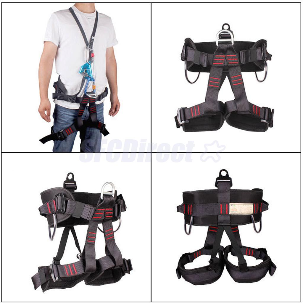 Thicken Climbing Harness Protect Waist Safety Half Body for Rigging Abseiling Mountaineering Equipment Gear