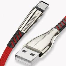 REZ Быстрая зарядка usb type-C кабель для huawei samsung S9 S8 Plus S10 Быстрая зарядка type-C кабель для зарядки мобильного телефона USB C