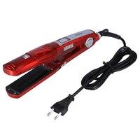 SANQ Kemei 60W 100W Electric Steam Hair Straightener Steam Comb Straightening Hair Irons Straight Hair Brush Temperature Displ