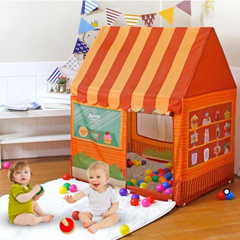 2019 Summer Kids Portable Tent Toy Set Prince Pricess Folding Baby Play Children Castle Outdoor Games for Children Gift