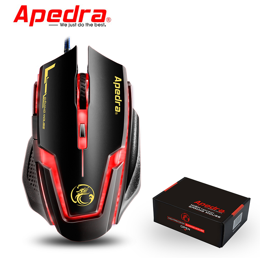 Apedra Bloody A9 Raton Souris Gaming Mouse Optical Led Usb 7 Botones Souris Gaming Sans Fil For Laptop Pc Notebook Raton Gamer