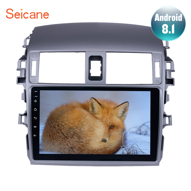 Seicane Android 8.1 9 inch 2Din Car Radio Quad Core WIFI Bluetooth <font><b>Multimedia</b></font> Player For 2007 2008 2009 <font><b>2010</b></font> <font><b>Toyota</b></font> OLD <font><b>Corolla</b></font> image