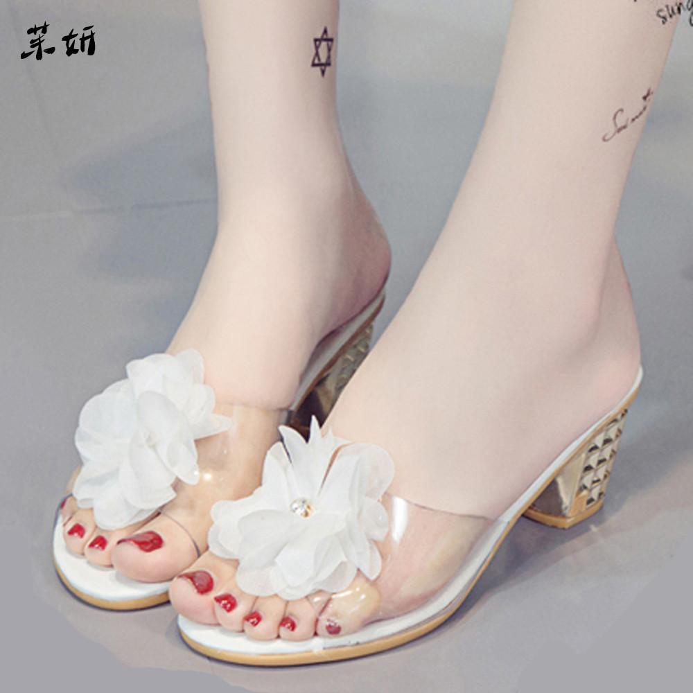 2019 Women Flower Slippers Women Fashion Shoes Heel Open Toe Shoes Or Bohemia Chinelos See # 7 Female Fashion Women Shoes