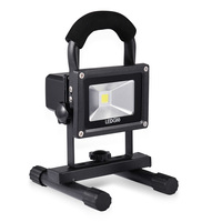 LEDGLE Rechargeable LED Flood Light, 20W Waterproof Floodinglight, Cool White, 6000K 6500K, With Adapter and Car Charger