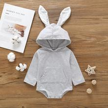цена на Baby Girl Clothes Kids clothes cute Sweater boys Girl rabbit ears Kids girls clothing New Spring 2019 Fashion hoodies for girl