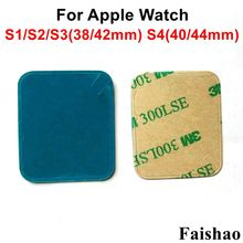 FaiShao 2pcs/lot LCD Display Screen Adhesive Sticker For Apple Watch Series 1 2 3 4 38mm 42mm 40mm 44mm
