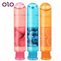 OLO 80mL pochwy Anal żel lodu uczucie seks olej smarowy na bazie wody orgazm i zwiększa przyjemność Sex zabawki dla kobiety mężczyźni