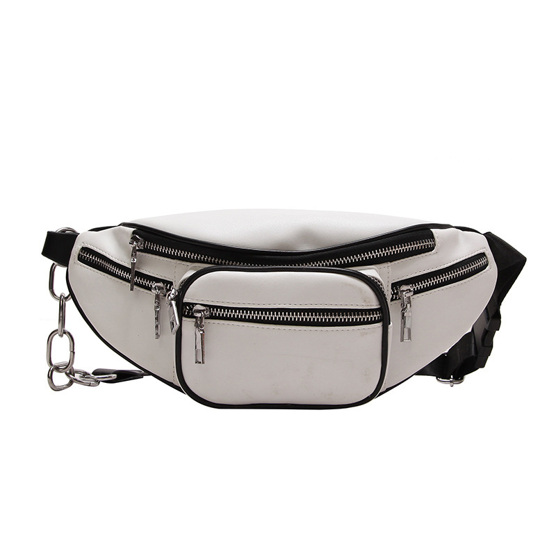 TTOU Women Fashion Waist Bag Leisure Fanny Pack Girls Pu Leather Waist Pack