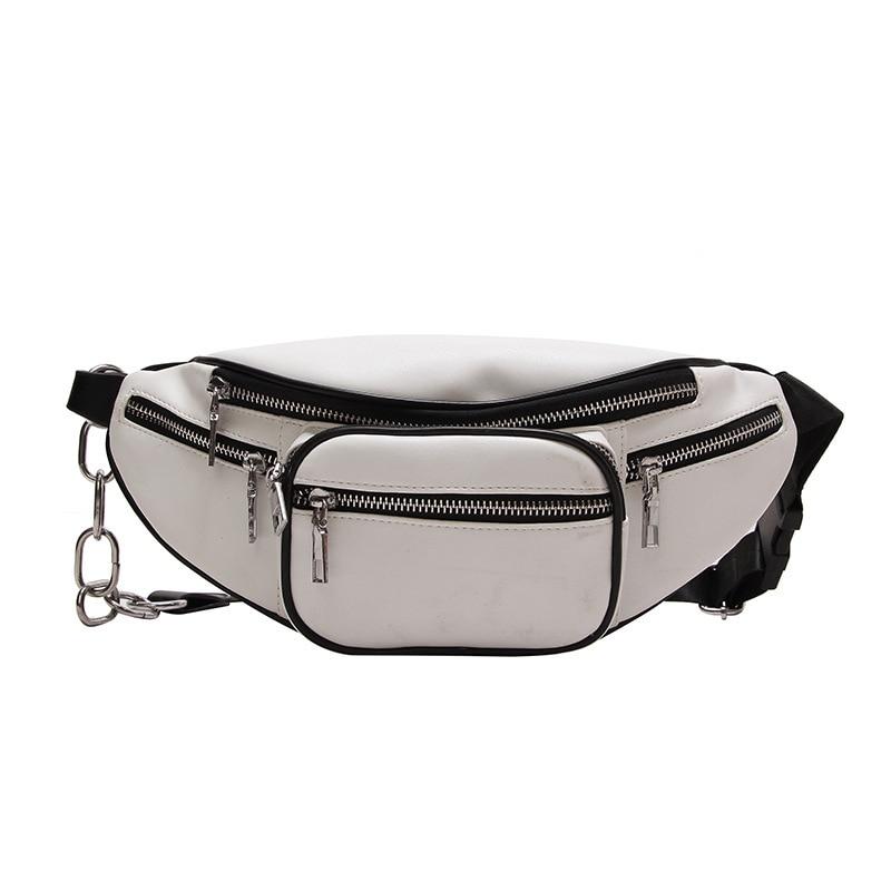 TTOU Women Fashion Waist Bag Leisure Fanny Pack Girls Pu Leather Waist Pack