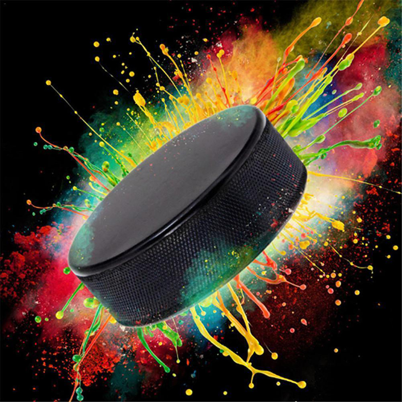 1pc Bulk Blank Ice Hockey Pucks - Official Regulation High Quality Winter Practice Hockey Puck Durable Rubber