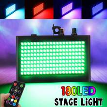 180 LED 35W Colorful Strobe Flash Laser Projector RGB Stage Lights Sound Activated DJ Disco Music Christmas KTV Wedding Party(China)