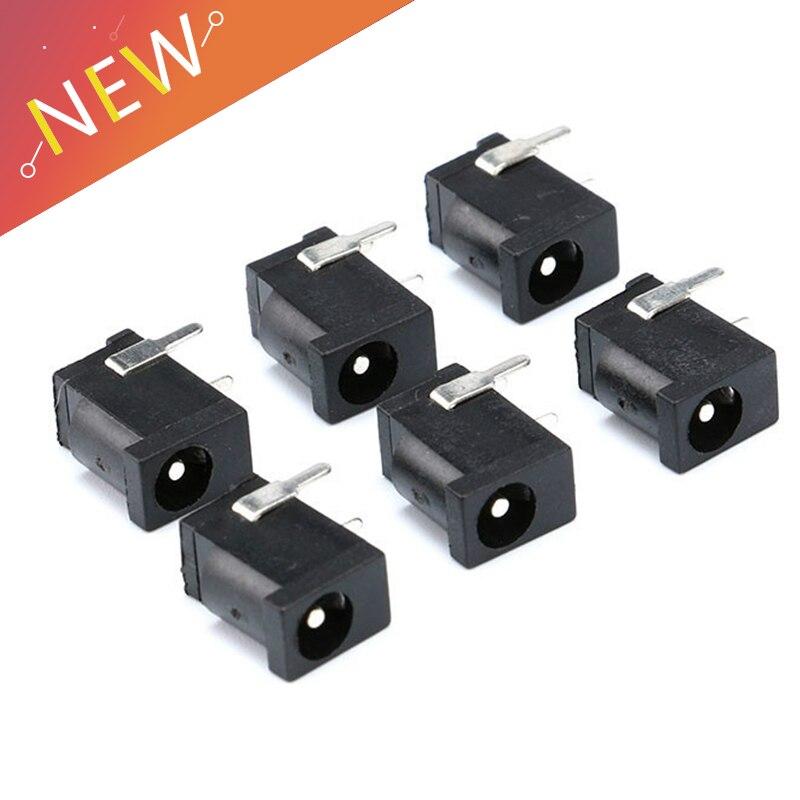 20Pcs DC-002 1A 30V Black DC Power Jack Socket Connector DC002 3.5*1.3mm 1.3 For Mini DC Socket