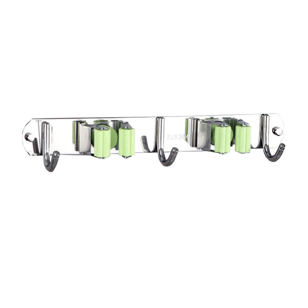 US $7 55 36% OFF Mop Broom Holder Wall Mount Stainless Steel Heavy Duty  Broom Organizer Hangers Storage Solutions for Laundry Room-in Storage  Holders