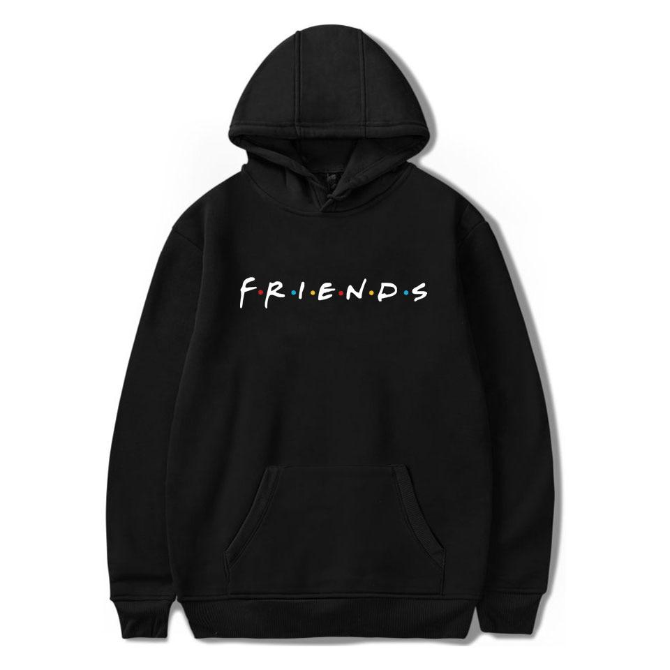LUCKYFRIDAYF 2018 Unisex Friends Member Pop Fashion Warm-ing Soft Women Hoodies Sweatshirt Hip Hop Clothing