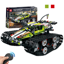 Technic Series 2.4G RC Building Block Bricks Remote control Car Tracked Race Car DIY Educational Toys Gift Compatible Legoings technic series 42065 radio controlled tracked racer set race car tank legoinglys building block brick toy technic lepin 20033