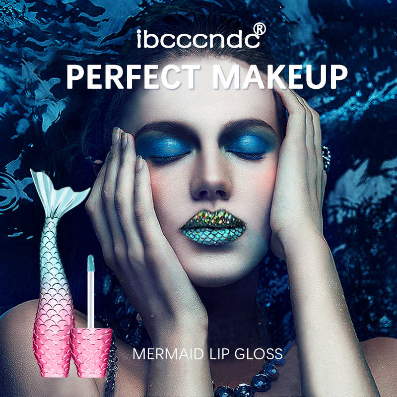 Baru 20 Warna Putri Duyung Lip Gloss Tahan Air Logam Matte Lipstik Makeup Tahan Lama Shimmer Lipkit