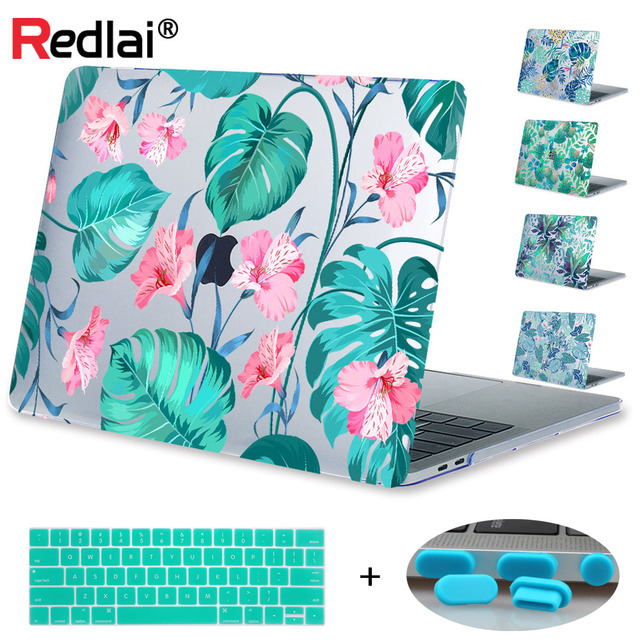 innovative design 1ed25 709d5 US $11.19 20% OFF|Redlai Plant Flower Print Case For Macbook Air Pro Retina  11 12 13 15 Laptop Case For Mac book Pro 13 15 with Touch Bar A1706-in ...