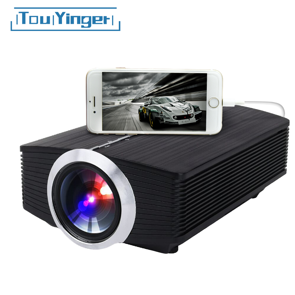Touyinger T2A wired mirroring Mini Projector LED for iPhone Android Smart Mobile phone YG510 Full HD