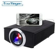 Touyinger t2a com fio espelhamento mini projetor led para iphone android telefone móvel inteligente yg510 vídeo hd completo portátil casa teatro
