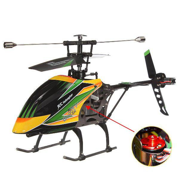V912 4CH Brushless RC Helicopter Single Blade High Efficiency Motor Remove Control Toys Children Birthday Gift Boy Toys-in RC Helicopters from Toys & Hobbies