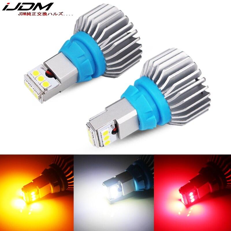 iJDM Car premium T15 LED 6000k White 12V 24V CANBUS Error Free 912 W16W LED Bulbs Car reverse lamp Turn Signal Brake Lamp Red(China)