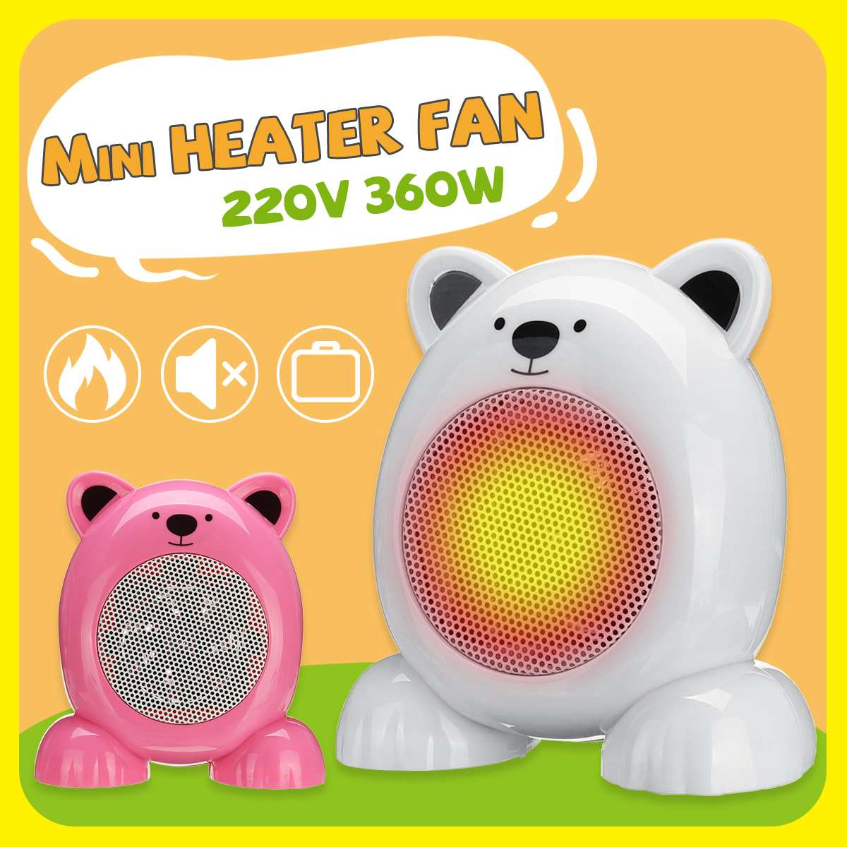 220v 360w Portable Electric Air Heater Mini Home Handy Heater Warm Fan PTC Heating Desktop For Winter Household Bathroom220v 360w Portable Electric Air Heater Mini Home Handy Heater Warm Fan PTC Heating Desktop For Winter Household Bathroom