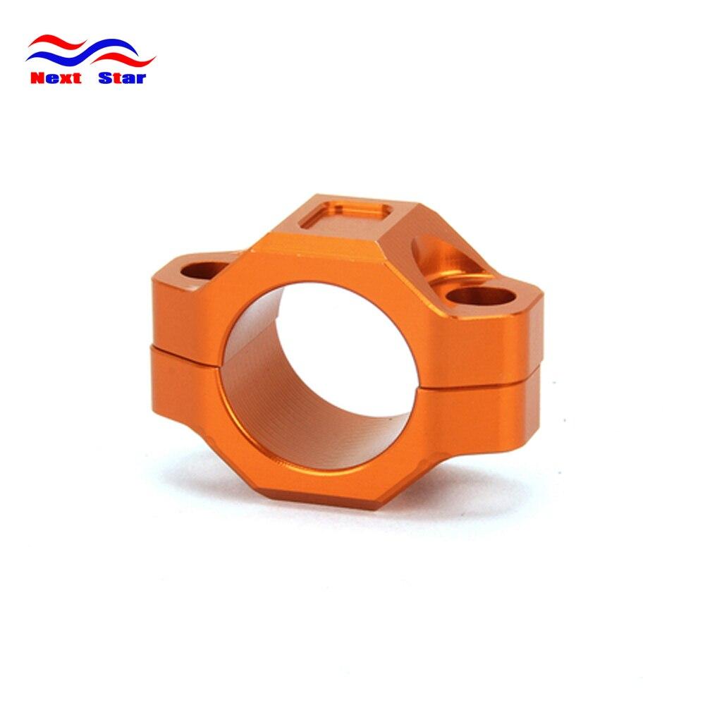 1PC Used 22mm Orange CNC Carved Motor Handlebar Grips Bar End Plug Caps