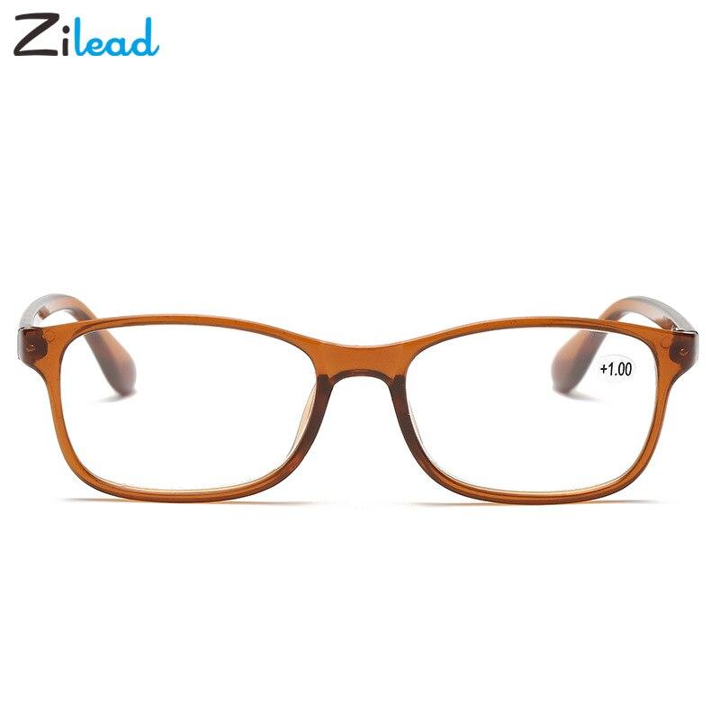 Zilead Fashion Resin Ultralight Reading Glasses Men Women High Quality TR90 Clear Material Prescription Reading Eyeglasses