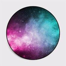 Круглый ковер Туманность галактика Вселенная планета мягкие ковры для гостиной Противоскользящий ковер стул Пол коврик для домашнего декора детская комната
