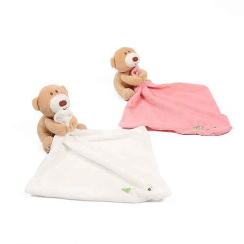Crianças bebê Brinquedo do Bebê Recém-nascido Blanket Consolador Consolador Urso Bonito Suave Macio Apaziguar Playmate Pelúcia Toalhas Laváveis