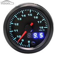 2 automobile tachometer Car Universal Voltmeter/ rpm meter 7 Color Blacklight LED Digital Pointer Water Temp/Oil Pressure Gauge