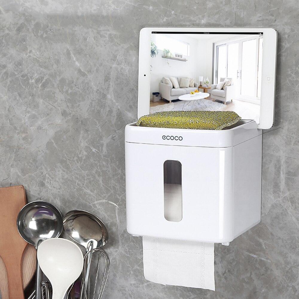Creative Roll Tissue Box Lavatory Sucker Toilet Paper Holder Napkin Storage