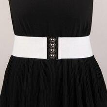 Women Skinny Elastic Belt Female Wide Self Tie Wrap Around Waist Band Vintage Dress Belt Accessories Down Jacket Waist Belts self tie waist random striped dress