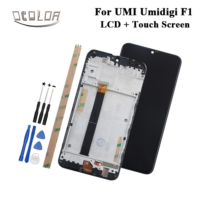 ocolor For UMI Umidigi F1 LCD Display and Touch Screen With Frame Tools Adhesive For UMI