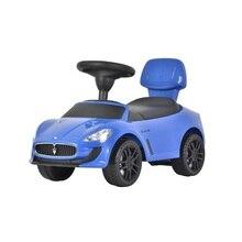 Машинка-каталка Maserati голубая