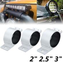 2Pcs Car LED Bar Roll Bull Mount Bracket Clamp Holder Tube For Offroad