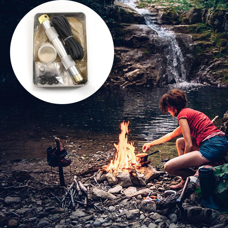 Fire Piston Ignition Air Compression Ignition Wilderness Survival Igniter Outdoor Camping Fishing Mountaineering Equipment