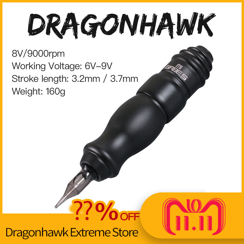 Dragonhawk Professional Permanent Tattoo Pen for Liner Shader Rotary Machine Pen Tattoo Gun Tattoo Supplies newest pro permanent makeup machine pen rotary tattoo machine gun for liner shader jm991 free shipping