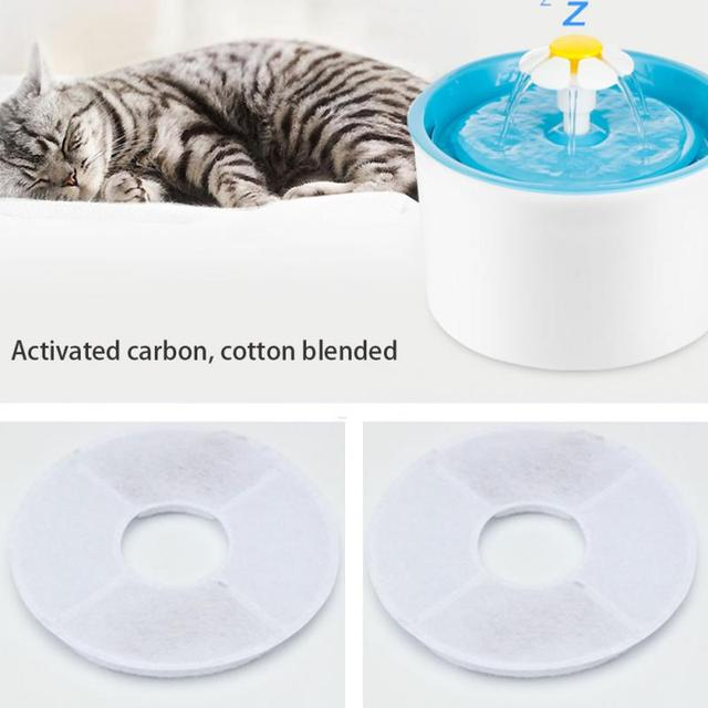 4 pcs/lot Activated Carbon Pet Water Drinking Fountain Filter For 1.8L LED Automatic Cat Dog Kitten Bowl Drink Dish Filter 026 3