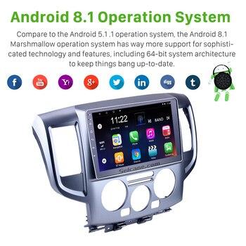 9 polegada Android 7 1/8 1 Unidade de Cabeça Jogador