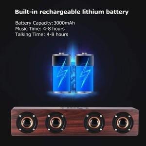 Image 5 - ワイヤレス Bluetooth スピーカー 12 ワットポータブルサブウーファ木ホームオーディオサポート TF FM 列スピーカー屋外 PC 電話