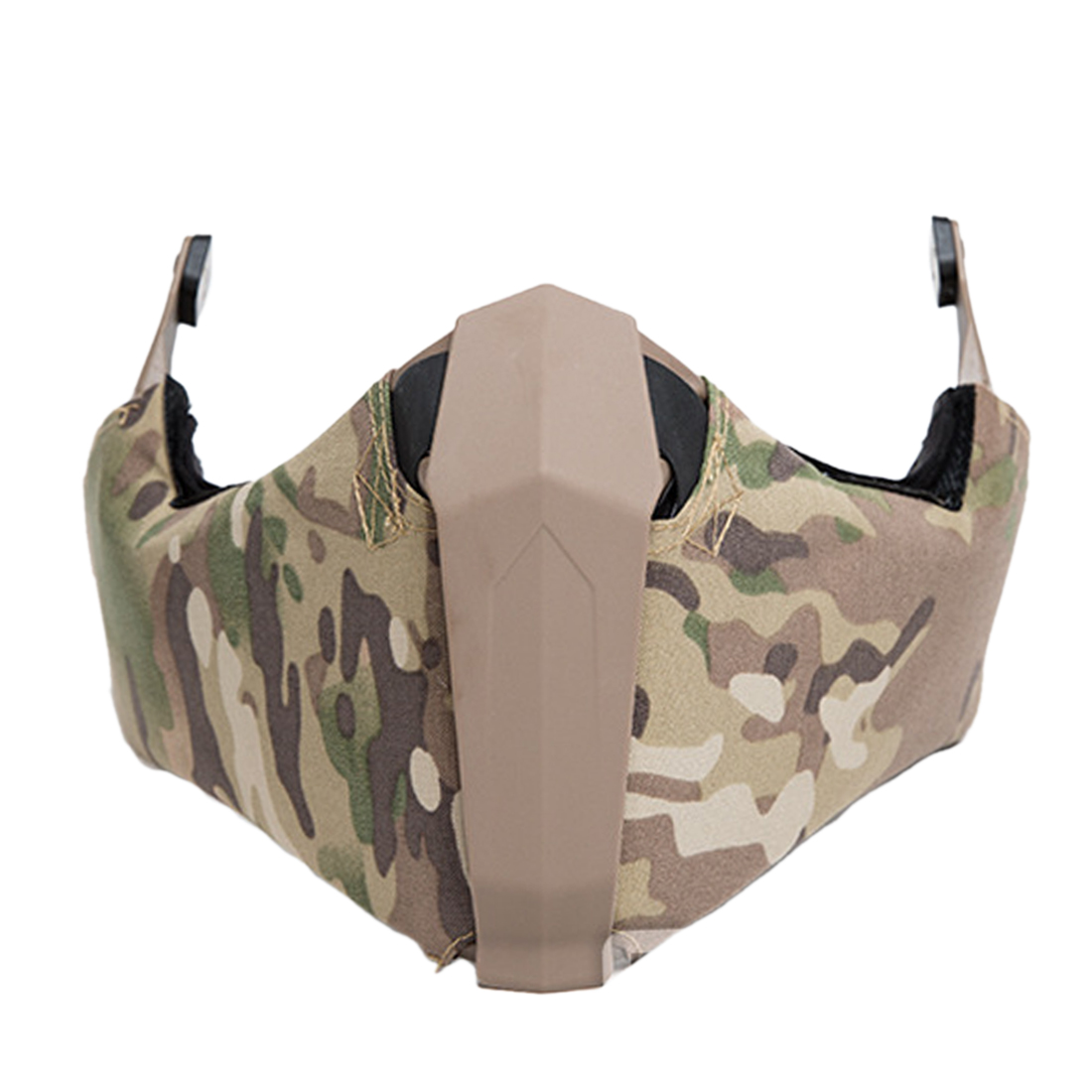 FMA Outdoor Activity Airsoft Breathability Mandible Half Face Mask for Helmet Rail - CamouflageFMA Outdoor Activity Airsoft Breathability Mandible Half Face Mask for Helmet Rail - Camouflage