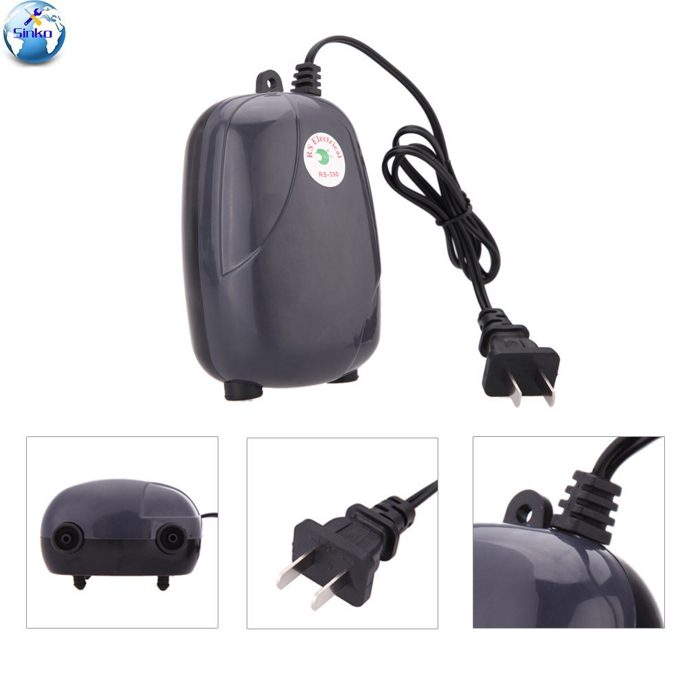 390 Culture Fish Oxygen Pump Mute Oxygen Pump Fish Tank Oxygen Filling Pump Small-sized Hit Oxygen Machine Aquarium Articles Power Tool Accessories Hand & Power Tool Accessories