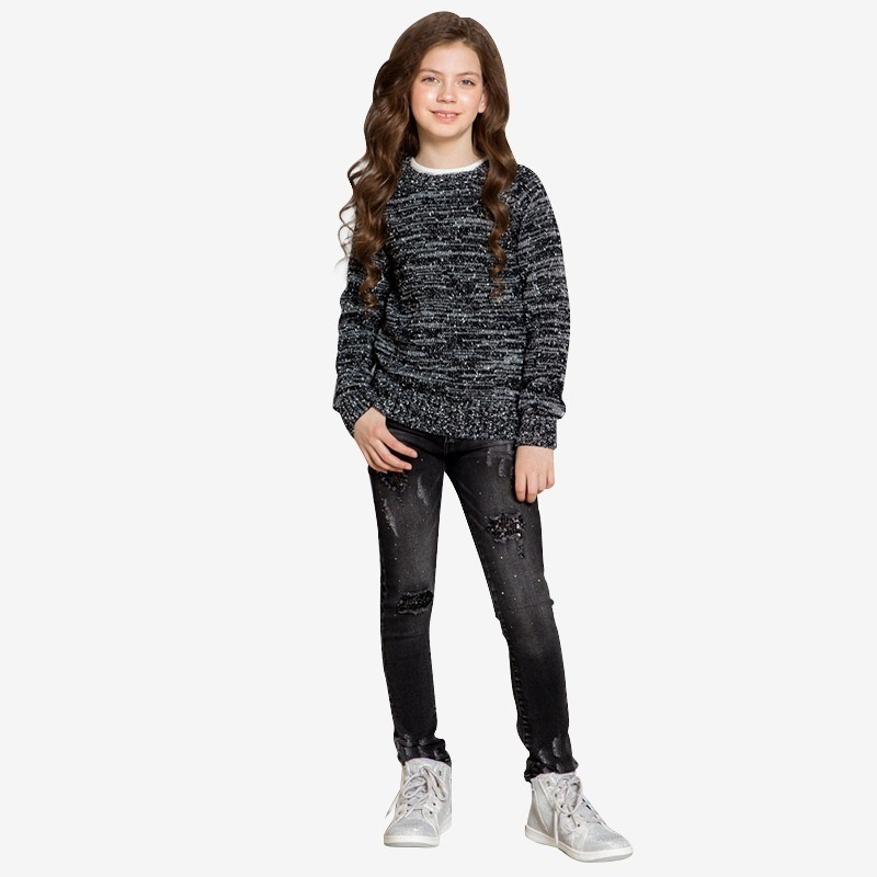 Sweaters Sweet Berry Knitted Sweater for girls children clothing kid clothes color block buttons knitted sweater