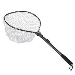 Składana aluminiowa składana mucha trójkąt Brail duża nylonowa siatka wędkarska teleskopowa przenośna pułapka na ryby w Narzędzia wędkarskie od Sport i rozrywka na