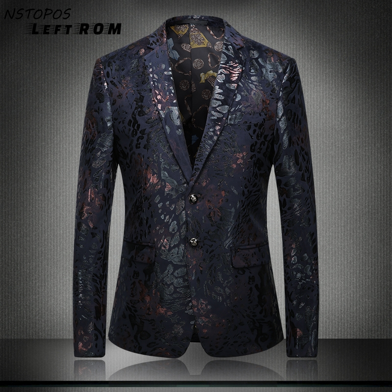 Mens Floral Blazer Latest Coat Design Men Vintage Floral Blazer Masculino Wedding Dress Stylish Blaser Elegant Jacket Size:S~3XL