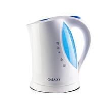 Чайник электрический Galaxy GL 0217 (Мощность 2200 Вт, объем 1.7 л, автоотключение при закипании и отсутствии воды, подсветка, отсек для хранения шнура, вращение 360°)