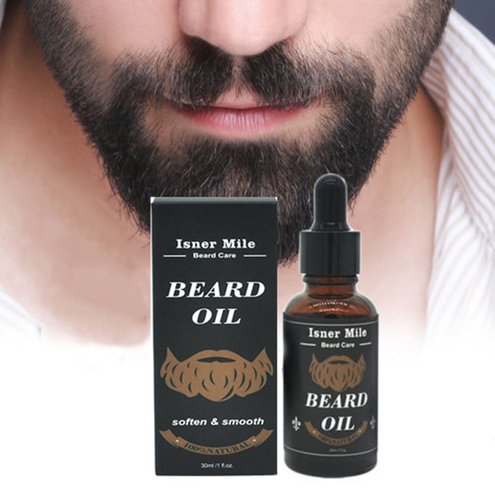 30ml Natural Plant Argan Nuts Men Beard Growth Oil Moisturiz